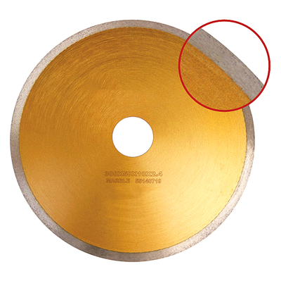 Marble cutting saw blade